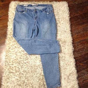 Torrid Denim Skinny Jeans Size 20R